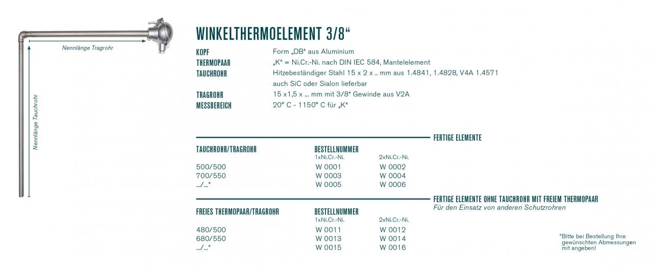 """Winkelthermoelement 3/8"""""""