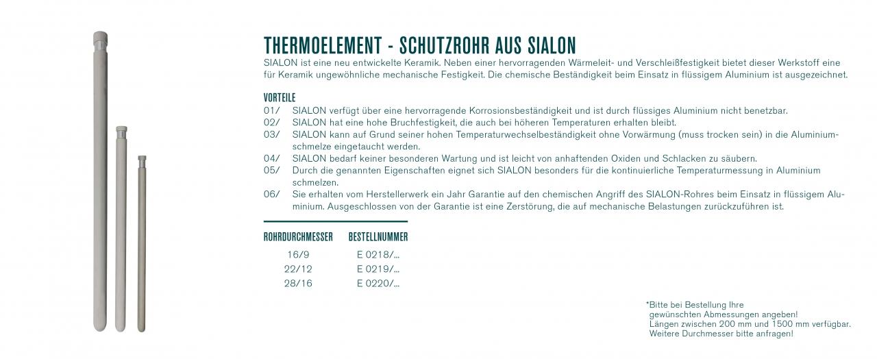 Thermoelement - Schutzrohr aus SIALON