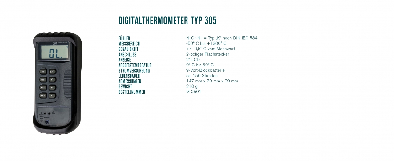 Digitalthermometer Typ 305