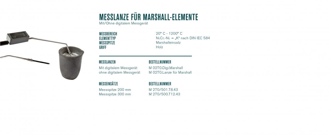 Messlanze für Marshall-Elemente mit/ohne digitalem Messgerät