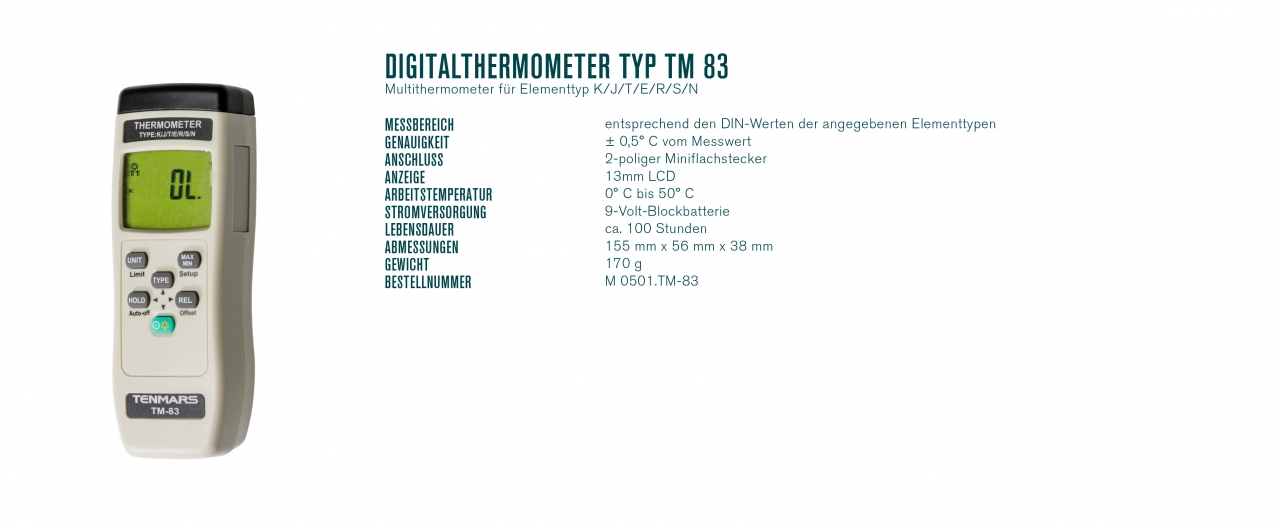 Digitalthermometer Typ TM 83